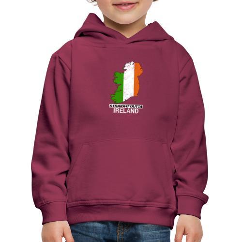Straight Outta Ireland (Eire) country map flag - Kids' Premium Hoodie