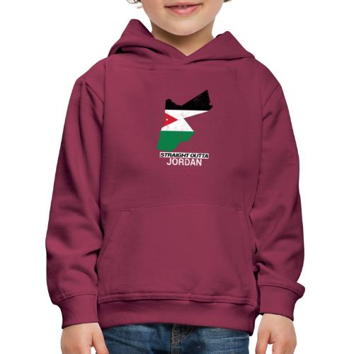 Straight Outta Jordan country map - Kids' Premium Hoodie