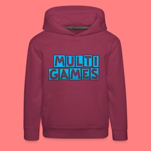 Multi Games blauw - Kinderen trui Premium met capuchon