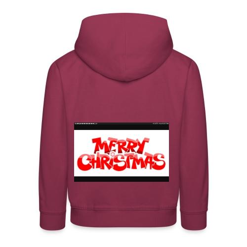 red Christmas top - Kids' Premium Hoodie