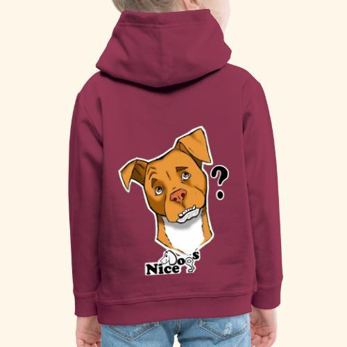 Nice Dogs pitbull 2 - Felpa con cappuccio Premium per bambini