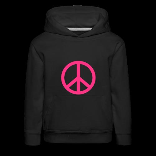 Gay pride peace symbool in roze kleur - Kinderen trui Premium met capuchon