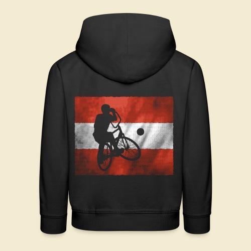 Radball | Flagge Österreich - Kinder Premium Hoodie