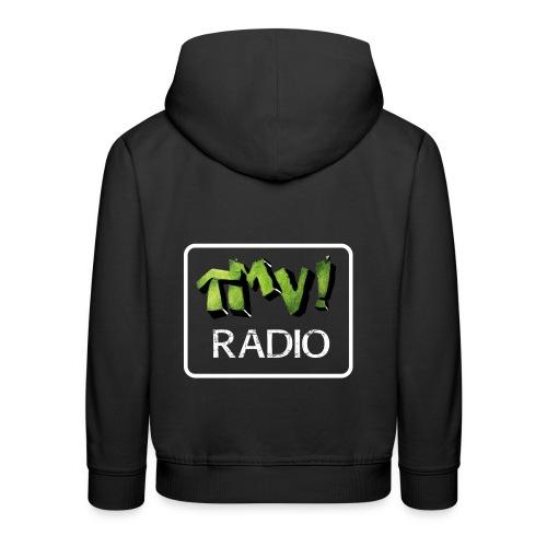 TMV RADIO logo bianco - Felpa con cappuccio Premium per bambini
