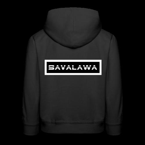 SavaLawa Schrift Schwarz/Weiß - Kinder Premium Hoodie