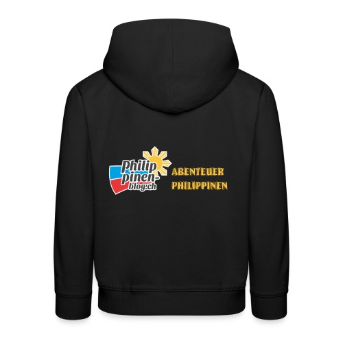 Philippinen-Blog Logo deutsch schwarz/orange - Kinder Premium Hoodie