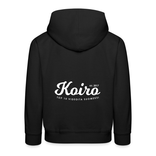 Koiro - Valkoinen Teksti - Lasten premium huppari