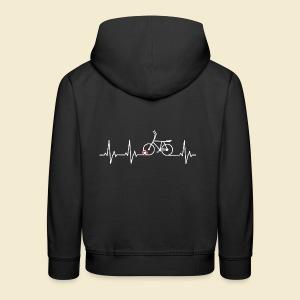 Radball   Heart Monitor White - Kinder Premium Hoodie
