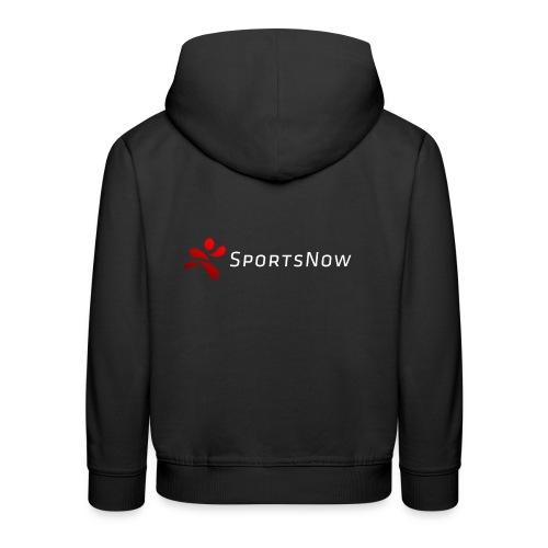 SportsNow-Logo mit weisser Schrift - Kinder Premium Hoodie