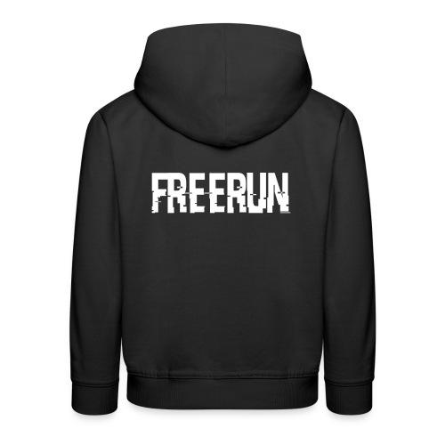 logo freerun - Pull à capuche Premium Enfant