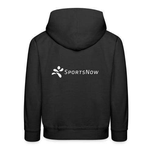 SportsNow-Logo Weiss - Kinder Premium Hoodie