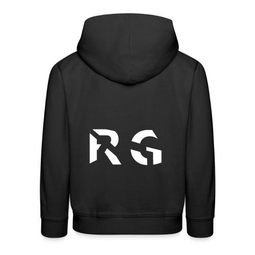 RG Wit Logo - Kinderen trui Premium met capuchon