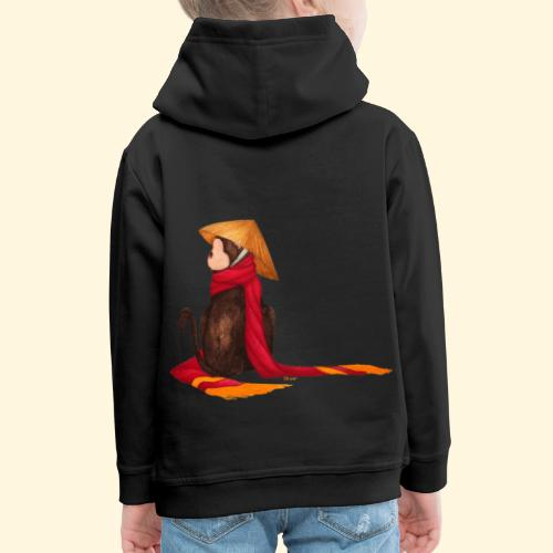 Un singe en hiver - Pull à capuche Premium Enfant