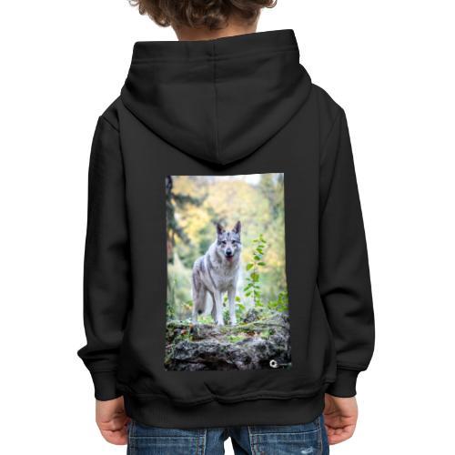 La Tanière des Chiens-Loups - Pull à capuche Premium Enfant