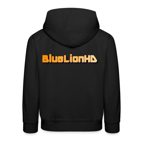 BlueLionHD Logo Orange/weiß - Kinder Premium Hoodie