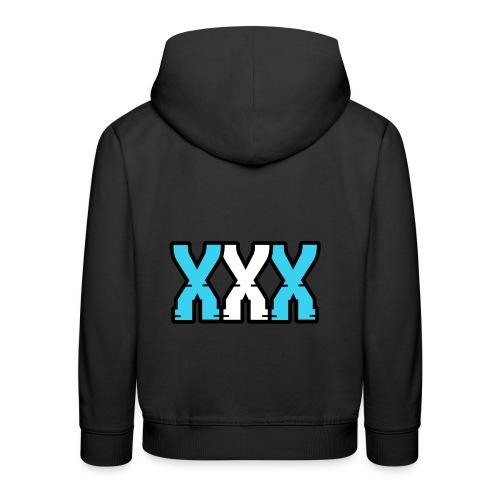 XXX (Blue + White) - Kids' Premium Hoodie
