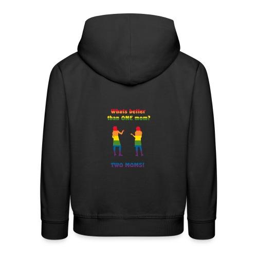 Två mammor - Pride - Premium-Luvtröja barn