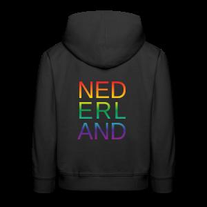 Nederland in de kleur van gay pride regenboog - Kinderen trui Premium met capuchon