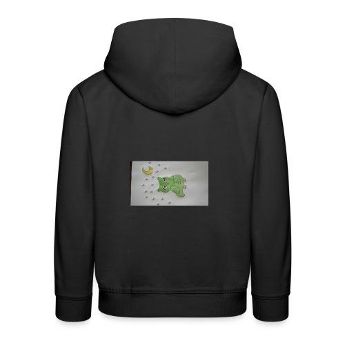 Grüne eule - Kinder Premium Hoodie