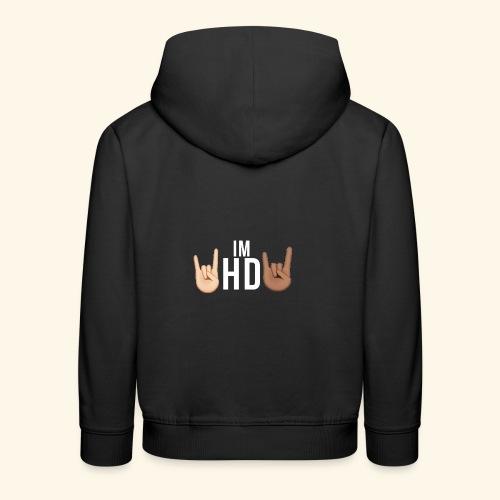 IM HD WHITE - Kids' Premium Hoodie