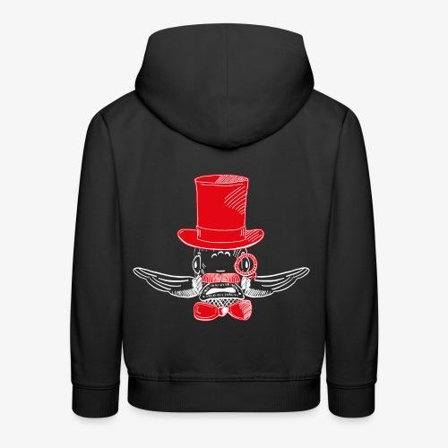 Elegant Hipster Fish - Mustache - Red - Kinder Premium Hoodie