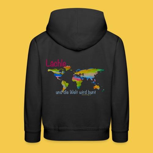 Lächle, und die Welt wird bunt - Kinder Premium Hoodie
