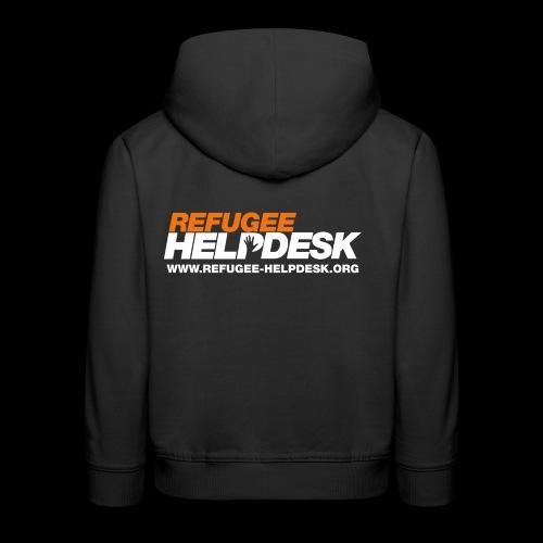 Refugee Helpdesk Logo (Bright) - Kinder Premium Hoodie
