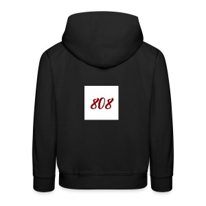808 red on white box logo - Kids' Premium Hoodie