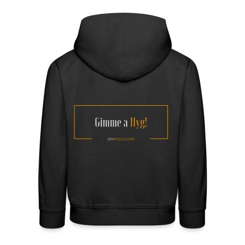 Gimme a Hyg, Grey and Orange - Kids' Premium Hoodie