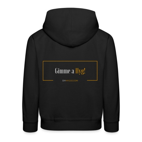 Gimme a Hyg, Grey and Orange - Kids' Premium Hoodie