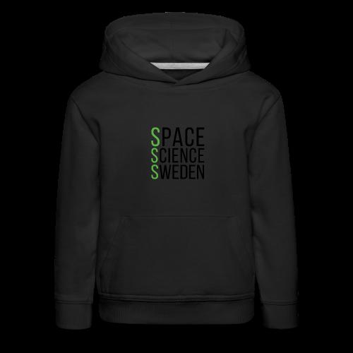 Space Science Sweden - svart - Premium-Luvtröja barn