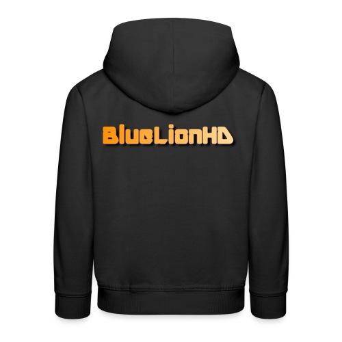 BlueLionHD Logo Orange/weiß - Kinder Premium Hoodie
