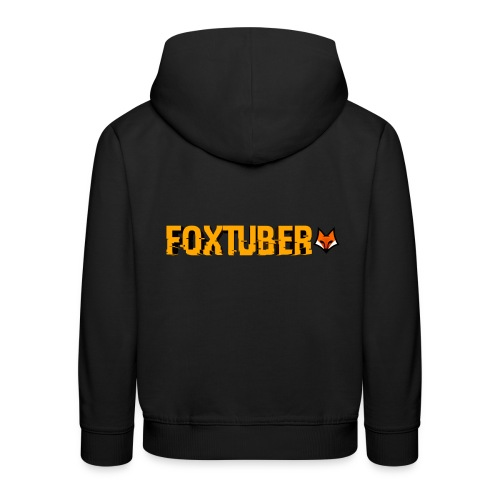 foxtuber naam + logo - Kinderen trui Premium met capuchon