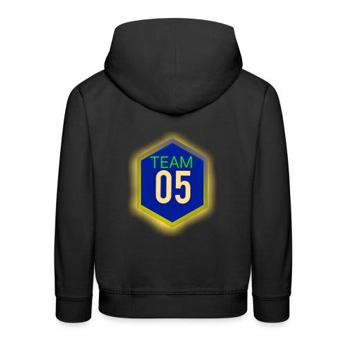 Gult lysene team05 logo - Premium hættetrøje til børn