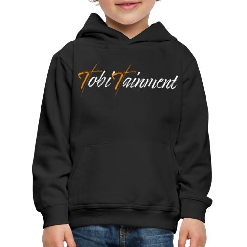 TobiTainment Logo White - Kinder Premium Hoodie