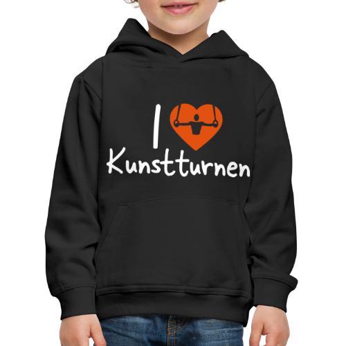 I love Kunstturnen Geschenk Geräteturner - Kinder Premium Hoodie