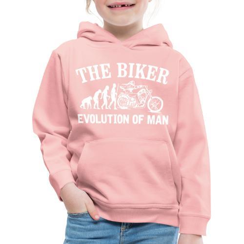 Evolution of man - Sudadera con capucha premium niño