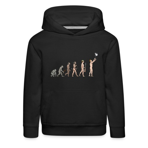 Evolution of Peace - Kids' Premium Hoodie