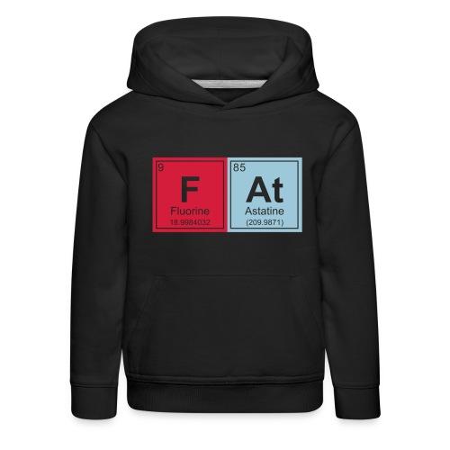 Geeky Fat Periodic Elements - Kids' Premium Hoodie