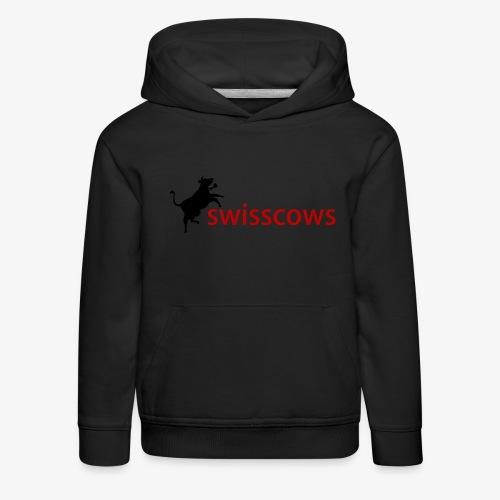 Schwarz-Rot Hoodie - Kinder Premium Hoodie