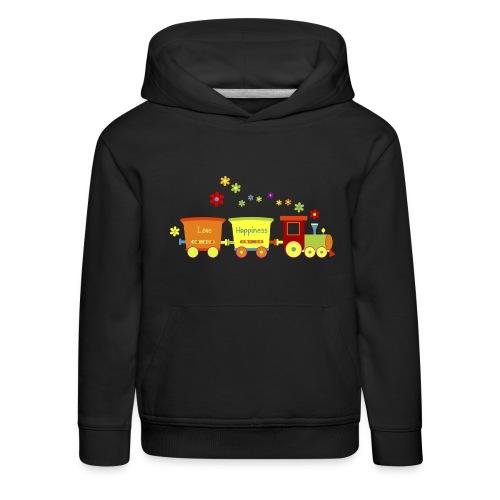 Eisenbahn Kinderspielzeug Zug Frühlingsblumen bunt - Kids' Premium Hoodie