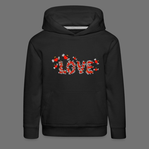 Flying Hearts LOVE - Kids' Premium Hoodie