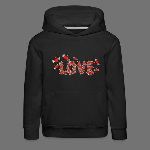 Flying Hearts LOVE - Premium hættetrøje til børn
