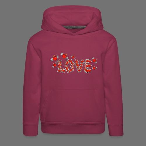 Latające miłości serc - Bluza dziecięca z kapturem Premium