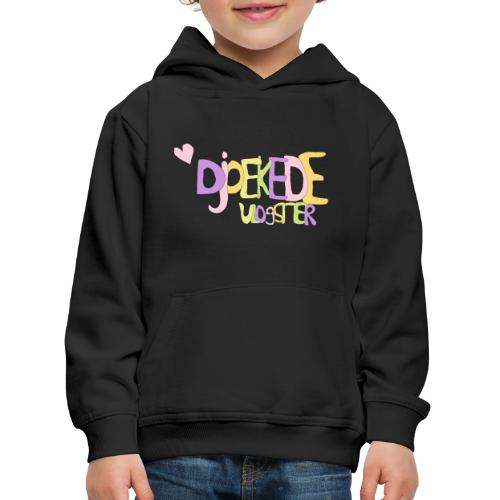 djoeke de vlogster logo origineel - Kinderen trui Premium met capuchon