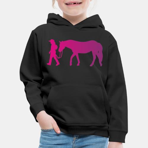 Mädchen führt Pferd, Horsemanship - Kinder Premium Hoodie