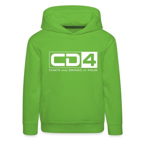 cd4 logo dikker kader bold font - Kinderen trui Premium met capuchon