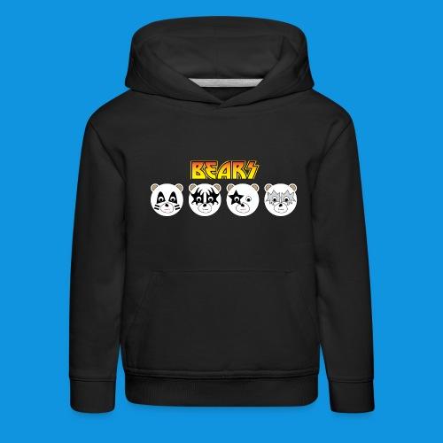 Kiss Bears.png - Kids' Premium Hoodie