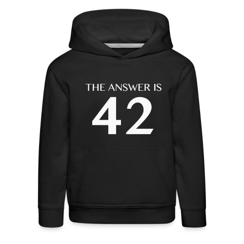 The Answer is 42 White - Kids' Premium Hoodie