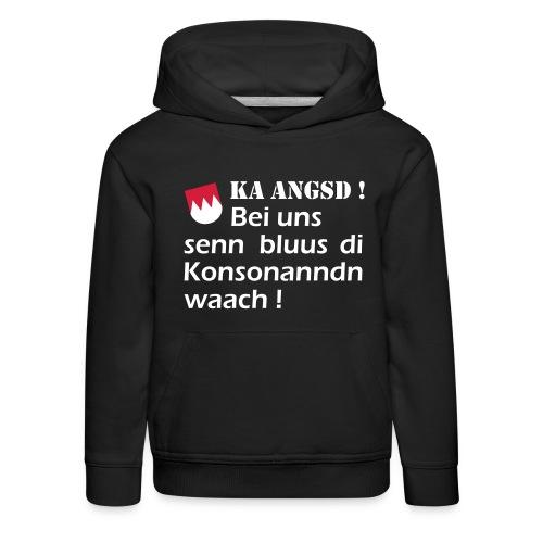 ka-angsd_rot_weiss_klein - Kinder Premium Hoodie